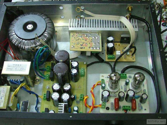 6n2电子管胆机前级+lm3886音频功率放大器功放(2)