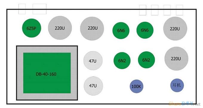 6n2推6n6电子管胆机耳机放大器耳放制作