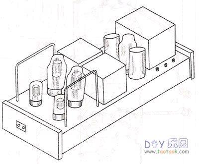 双声道单端a类300b电子管胆机功放的制作(2)