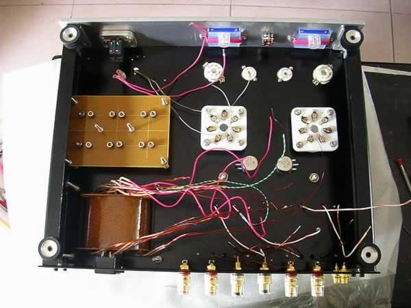 7完工的12at7+6v6+813电子管单端胆机