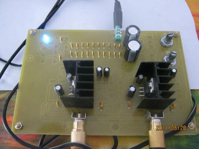 tda2030双声道功放制作过程