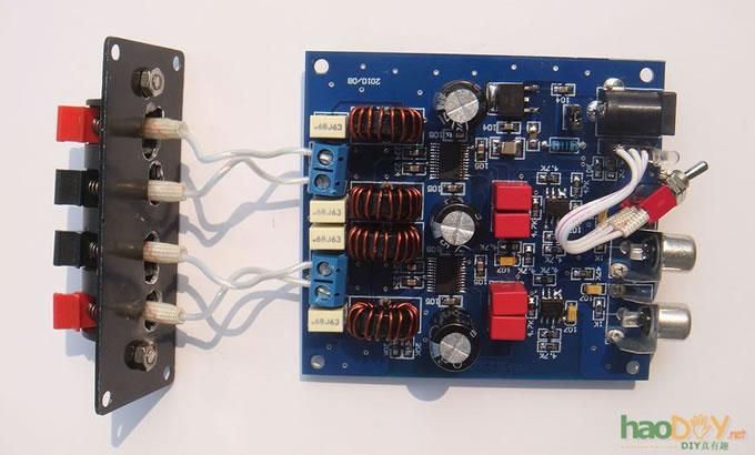 用d类功放集成电路tpa3123制作btl形式放大器(2)