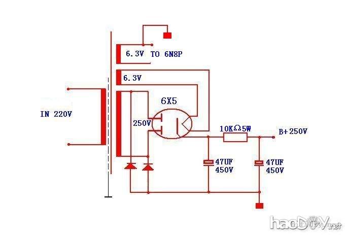 制作一台6n8p电子管胆前级