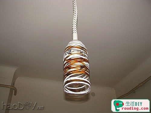 diy矿泉水瓶,可乐瓶制作灯罩