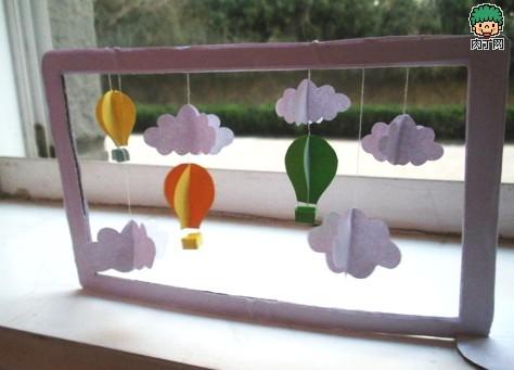 剪纸花瓶贴画