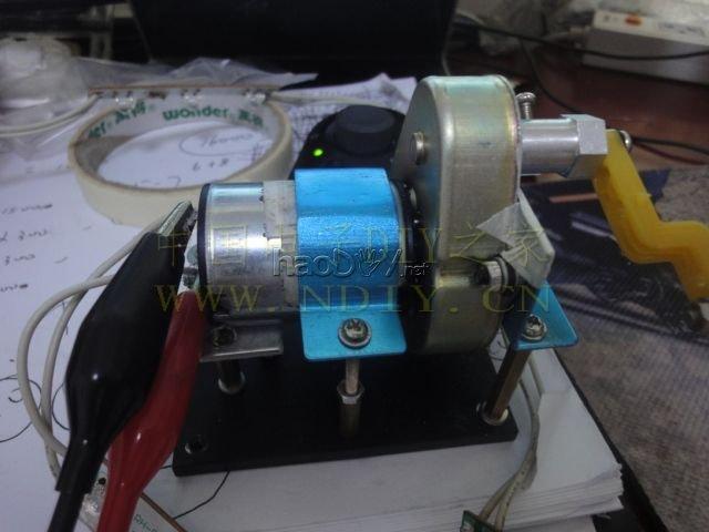 自制手摇发电机. 减速马达