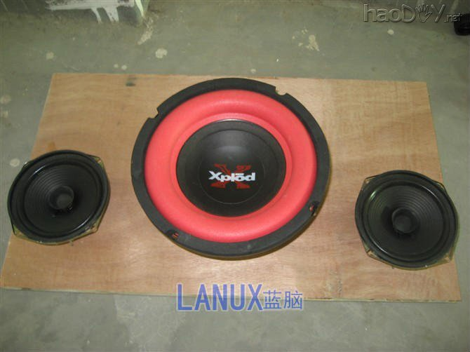 xplod低音喇叭+低音炮功放