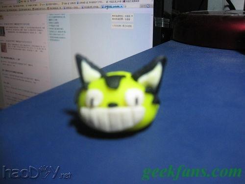 diy橡皮泥手工制作:龙猫