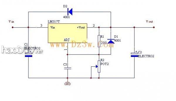 制作lm317可调稳压直流电源