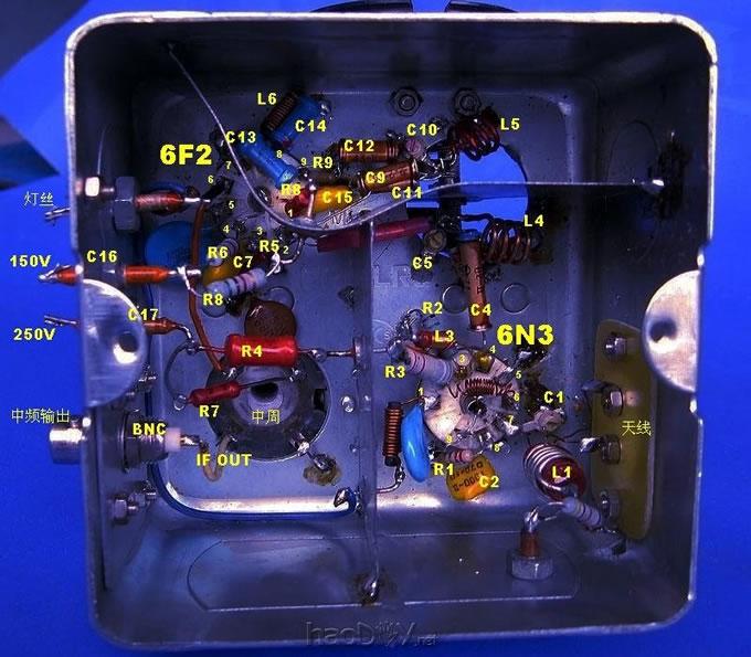 diy制作6n3/6f2电子管调频胆收音机高频头