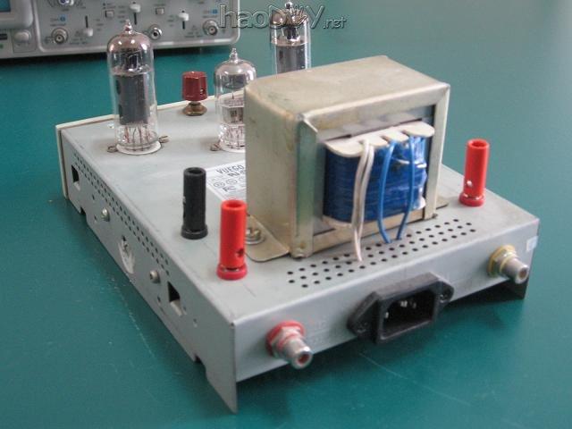 diy制作的6n2推6p1电子管小单端胆机功放