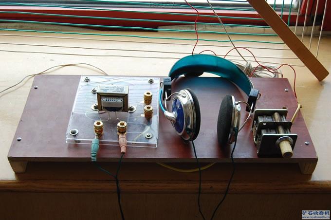 矿石收音机大环天线实验