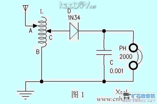 矿石收音机电路图及制法大全(2)