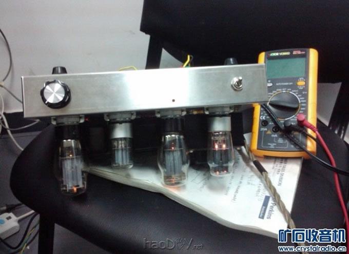 6n9p+6p3p(6l6)电子管单端胆机功放处女作!效果极佳