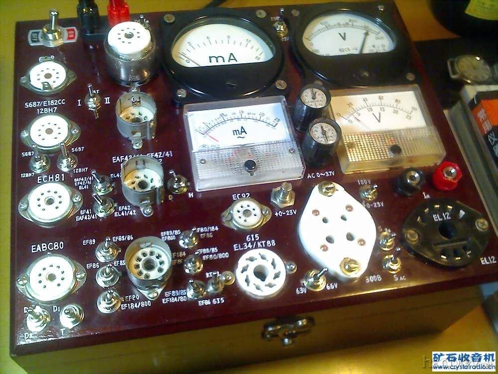 diy收音机和功放常用电子管测试仪(18)