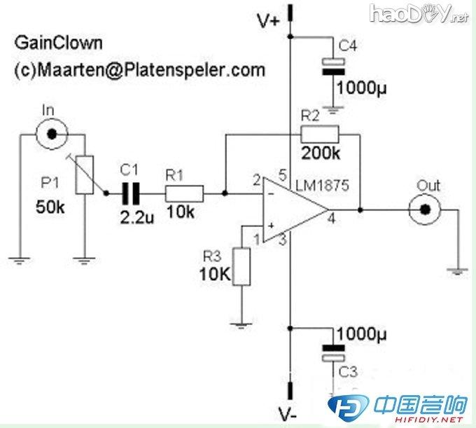lm1875典型电路