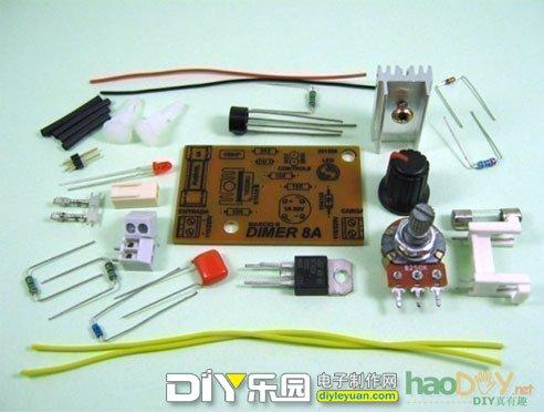 tic226可控硅制作的调光电路模块套件