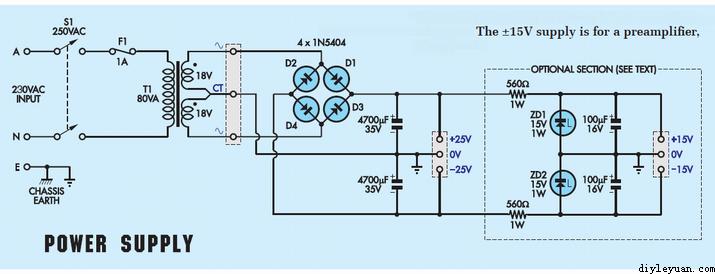 lm1875功放电源电路图